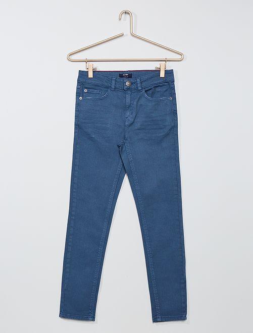 Pantaloni skinny in twill eco-sostenibili                                                                 BLU