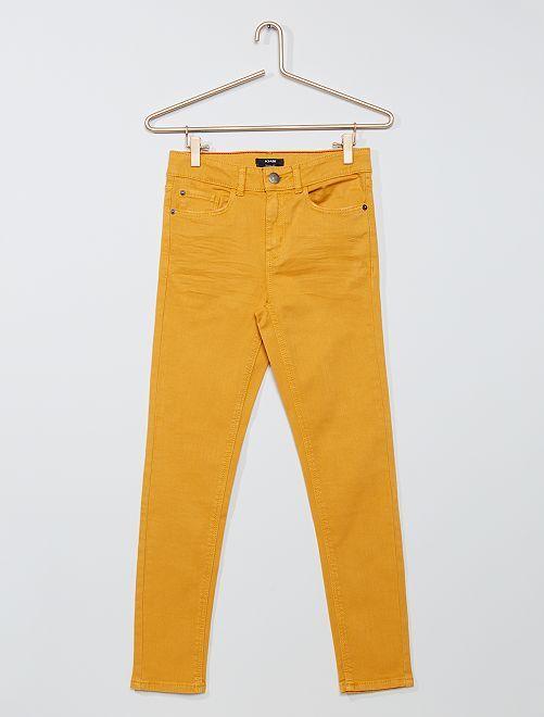 Pantaloni skinny in twill eco-sostenibili                                                                 GIALLO