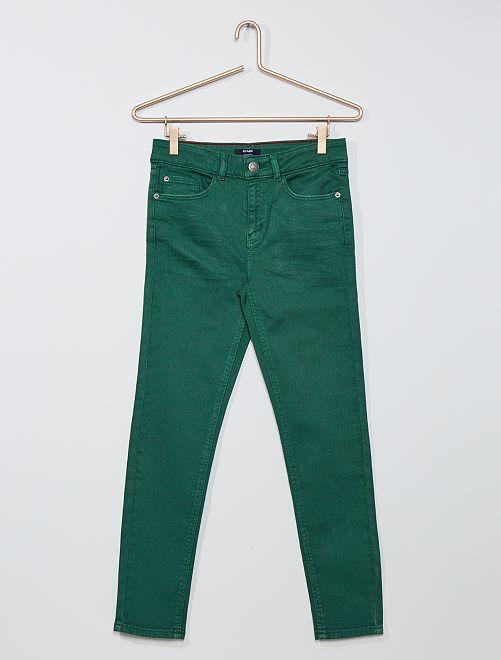 Pantaloni skinny in twill eco-sostenibili                                                                 VERDE