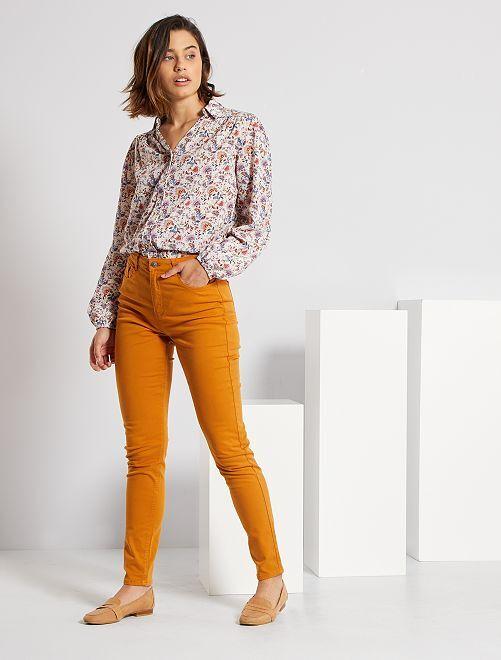 Pantaloni skinny multitasche                                                                                                                                                                             marrone