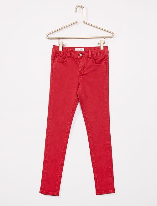 Pantaloni skinny                                                                                                                                                                             rosso