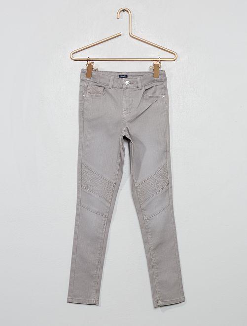 Pantaloni skinny stile motociclista                                                     GRIGIO