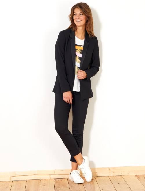 Pantaloni skinny stretch 7/8                                                     nero Donna