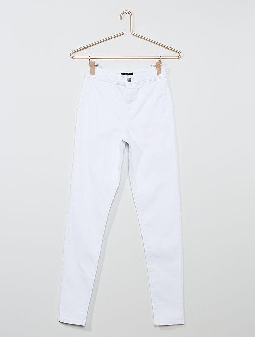 Pantaloni skinny stretch                                                                 bianco