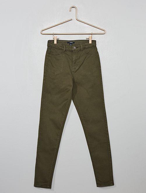 Pantaloni skinny stretch                                                                 KAKI