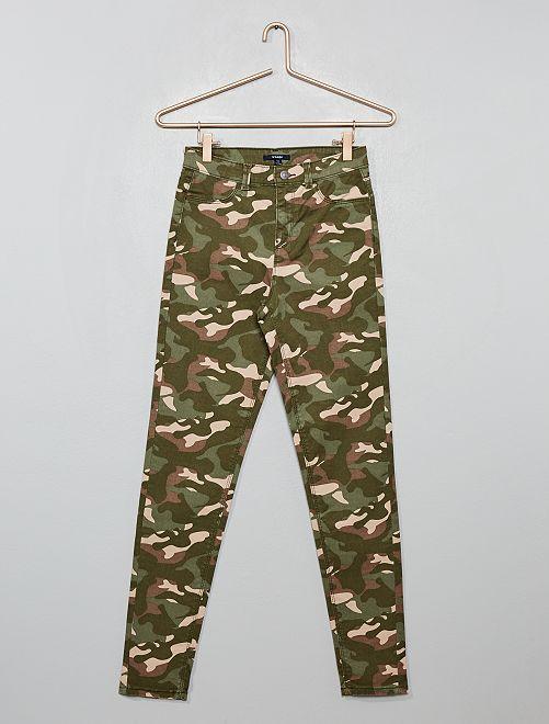 Pantaloni skinny stretch                                                     militare