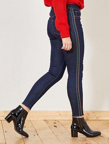 Donna dalla 38 alla 52 - Pantaloni skinny striscia fantasia sui lati - Kiabi