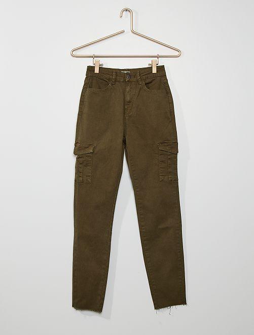 Pantaloni skinny tasche battle                                         KAKI