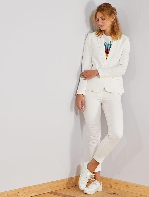 Pantaloni skinny tinta unita                                         bianco neve Donna