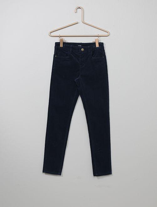 Pantaloni skinny velluto a coste                                                                 BLU