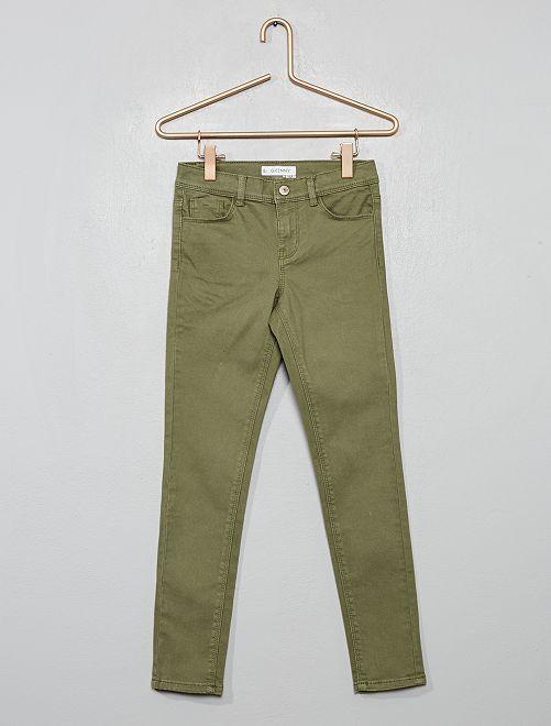 Pantaloni skinny                                                                                                                                                     verde licheno