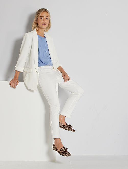 Pantaloni skinny vita alta                                         bianco neve
