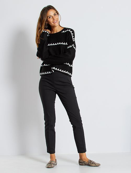 Pantaloni skinny vita alta                                                     nero