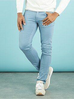 Pantaloni slim 5 tasche cotone stretch