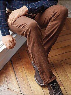 Uomo dalla S alla XXL Pantaloni slim 5 tasche cotone stretch