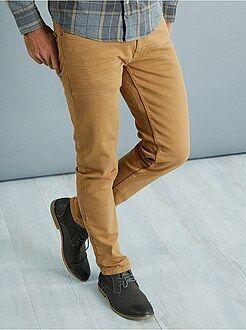 Pantaloni slim - Pantaloni slim 5 tasche cotone stretch