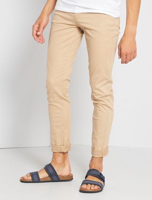 Pantaloni slim 5 tasche twill                                                                                                                 BEIGE