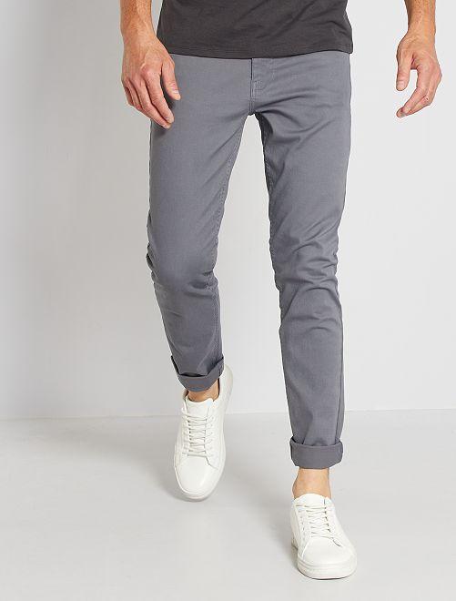 Pantaloni slim 5 tasche twill                                                                                                     GRIGIO