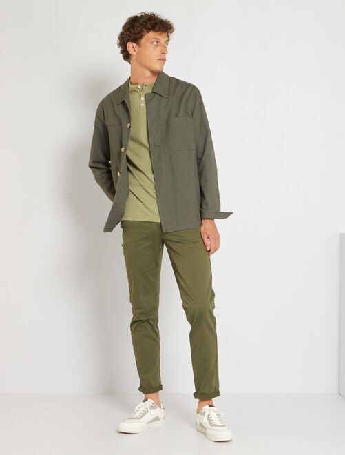 Pantaloni slim 5 tasche twill                                                                                                                             KAKI