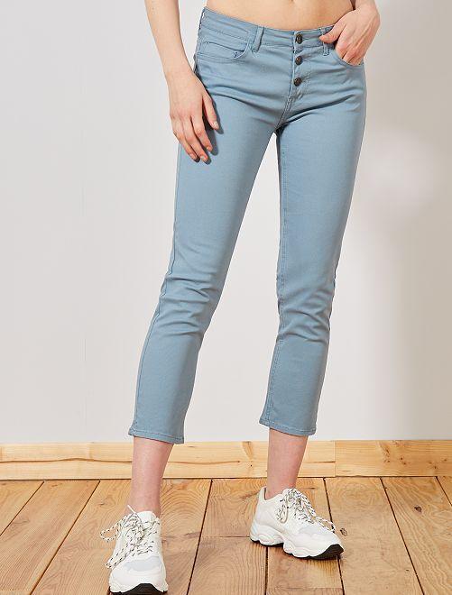 Pantaloni slim 7/8                                                                                                                             blu grigio Donna