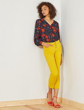 Donna dalla 38 alla 52 - Pantaloni slim 7/8 vita alta - Kiabi