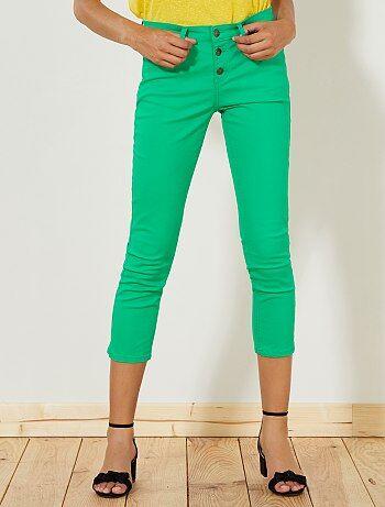 Pantaloni slim 7/8 vita alta - Kiabi