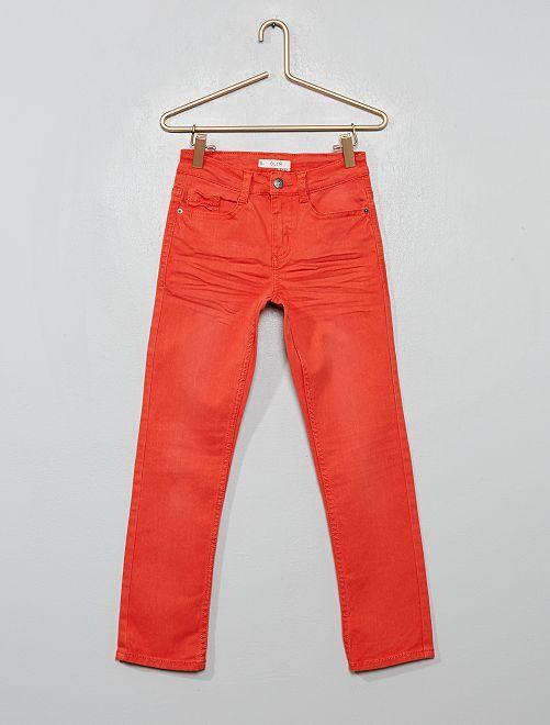 Pantaloni slim                                                                                                                                         arancio páprika