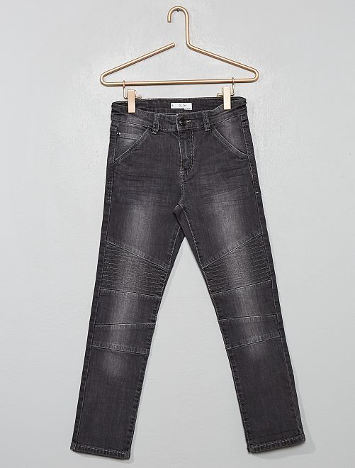 Pantaloni slim 'biker'                                                     GRIGIO