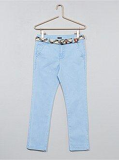 Pantaloni slim + cintura intrecciata - Kiabi