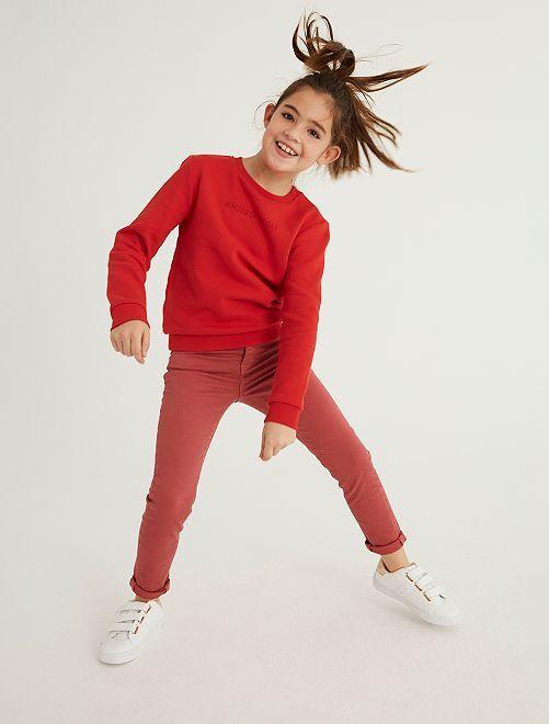 Pantaloni slim colorati                                                                                         ROSA