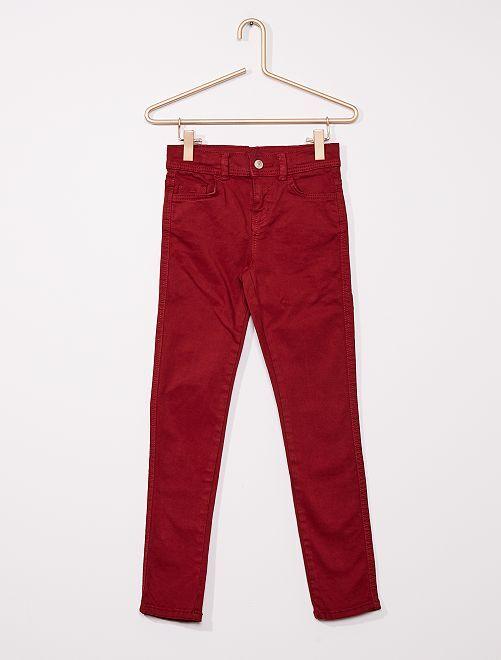 Pantaloni slim colorati                                                                                         ROSSO