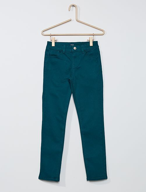Pantaloni slim colorati                                                                 verde