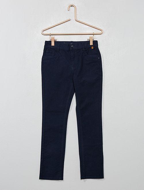 Pantaloni slim cotone stretch                                         blu Infanzia bambino