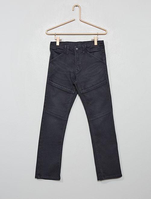 Pantaloni slim dettagli ginocchia                                                     grigio scuro