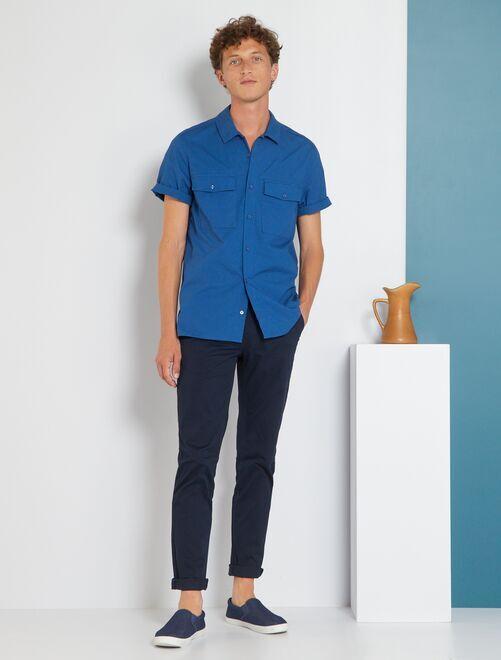 Pantaloni slim eco-sostenibili                                                                                                                                                                                                                                                                                                                 blu