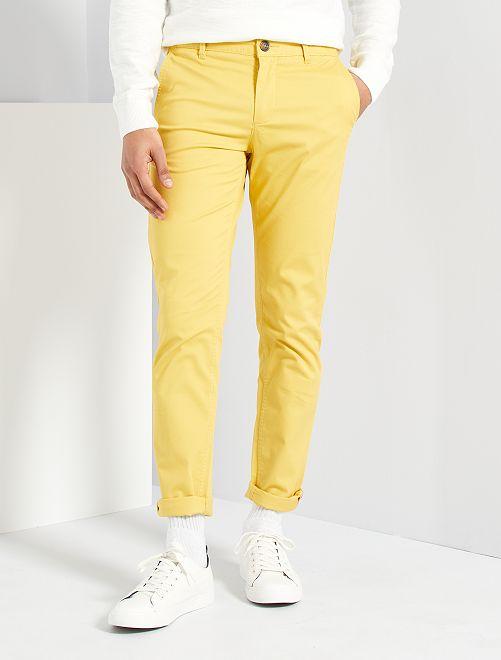 Pantaloni slim eco-sostenibili                                                                                                                                                                                                                                                                                                                                                     giallo arancio
