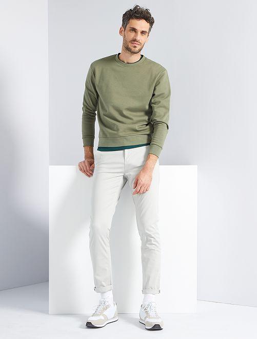 Pantaloni slim eco-sostenibili                                                                                                                                                                                                                                                                                                                 grigio chiaro
