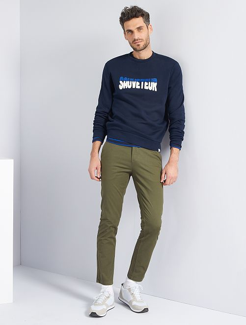 Pantaloni slim eco-sostenibili                                                                                                                                                                                                                                                                                                                 KAKI