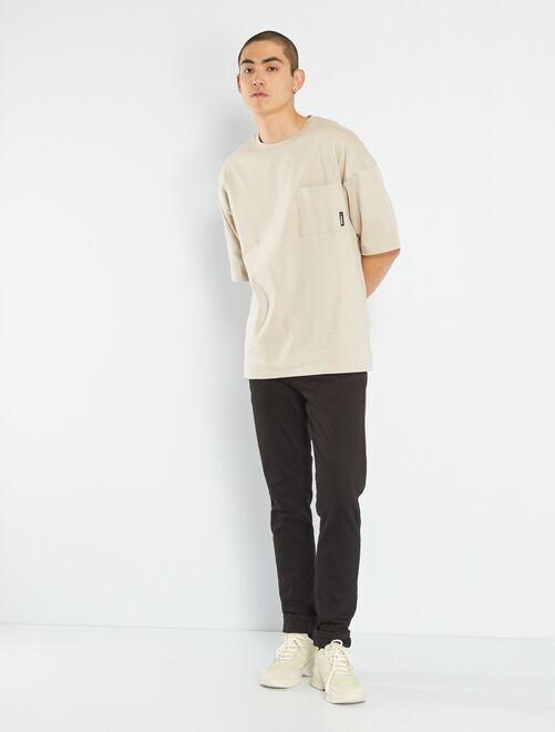 Pantaloni slim eco-sostenibili                             nero
