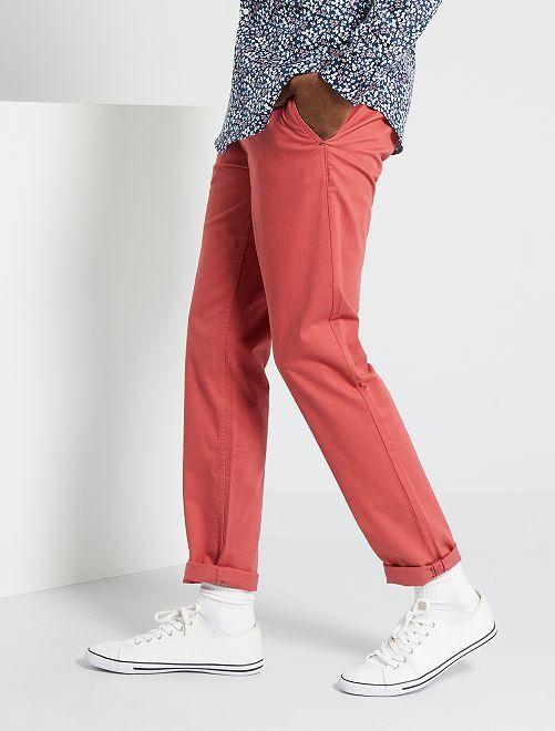 Pantaloni slim eco-sostenibili                                                                                                                                                                                                                                                                                                                 ROSA