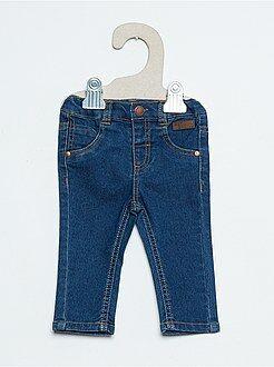 Pantaloni slim effetto denim