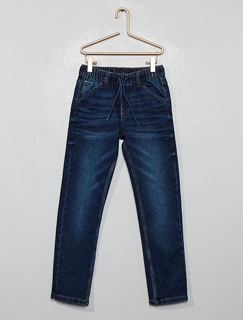 Pantaloni slim elasticizzati                                         BLU