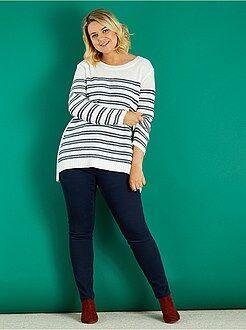 Pantaloni - Pantaloni slim gabardine stretch - Kiabi