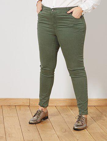 Pantaloni slim gabardine stretch - Kiabi