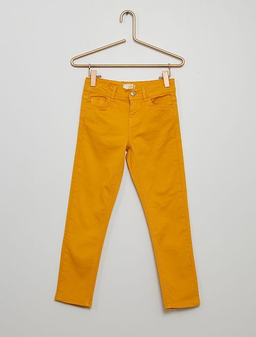 Pantaloni slim                                                                                         giallo