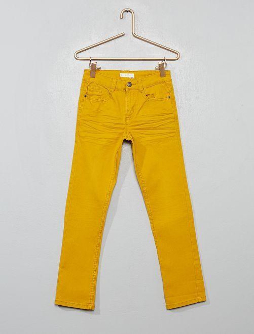 Pantaloni slim                                                                                                                                         giallo bronzo