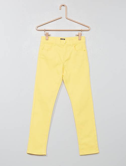 Pantaloni slim                                                                                                                                         GIALLO Infanzia bambina