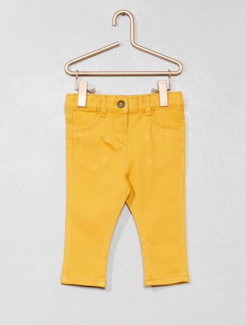 Pantaloni slim                                                                 giallo Neonata