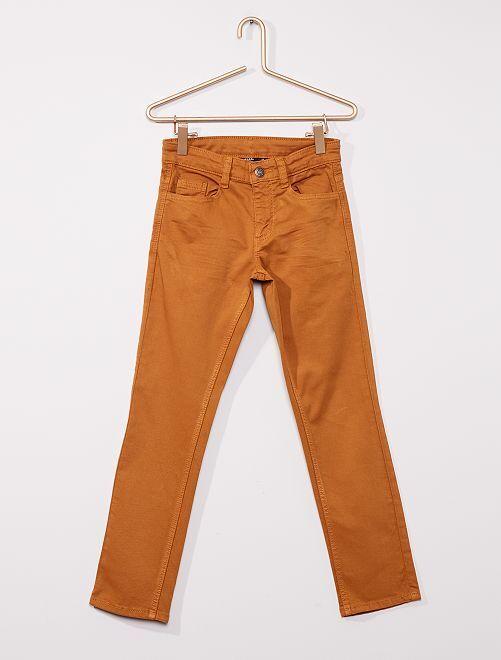 Pantaloni slim in twill eco-sostenibili                                                                                                                 BEIGE