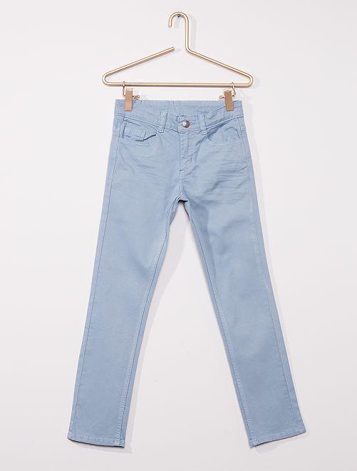 Pantaloni slim in twill eco-sostenibili                                                                                                                 grigio blu